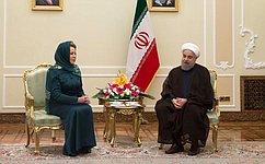 В.Матвиенко встретилась сПрезидентом Исламской Республики Иран Х.Рухани