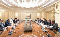 В.Матвиенко провела встречу сглавой МИД Саудовской Аравии А.Аль-Джубейром
