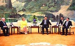 Официальный визит делегации Совета Федерации воглаве c В.Матвиенко вКитайскую Народную Республику