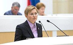 Л. Бокова представила отчет обитогах выполнения обязанностей полномочного представителя СФ вОбщественной палате