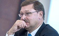 Односторонней победы вконфликте наУкраине небудет, номир сейчас важнее всего— К. Косачев