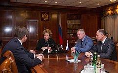 Председатель Совета Федерации встретилась сруководством Тверской области