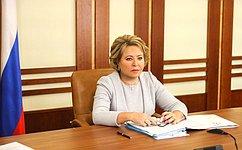 В. Матвиенко приняла участие взаседании Совета постратегическому развитию инациональным проектам