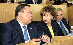 Т. Гигель: ВРеспублике Алтай правительство ипарламент работают втесном сотрудничестве