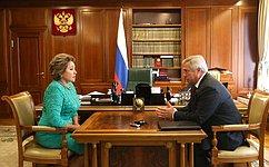 В.Матвиенко: Ростовская область вносит значительный вклад вобеспечение продовольственной безопасности России