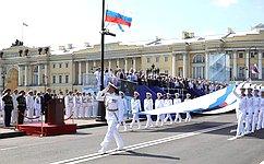 Председатель СФ приняла участие вторжественных мероприятиях вСанкт-Петербурге, посвященных Дню Военно-Морского Флота