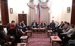 Состоялся визит делегации Совета Федерации вЛиван