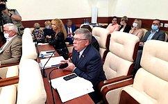 В. Рязанский отчитался перед депутатами Курской областной Думы освоей работе вСовете Федерации