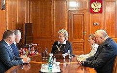 В. Матвиенко иВ. Радаев обсудили перспективы социально-экономического развития Саратовской области