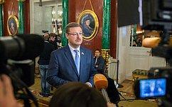 К.Косачев: Важно, что международная тема вПослании Президента России оказалась одной изцентральных