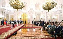 Заместитель Председателя Совета Федерации Ю.Л. Воробьев принял участие вторжественной церемонии вручения Государственных премий Российской Федерации