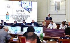 А. Башкин отчитался назаседании правительства Астраханской области освоей деятельности вСовете Федерации в2019году