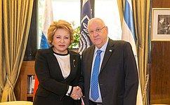 Состоялась встреча Председателя СФ В.Матвиенко сПрезидентом Израиля Р.Ривлиным