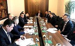 Делегация группы посотрудничеству Совета Федерации сНациональным советом Словацкой Республики воглаве сВ. Тимченко посетили Словакию срабочим визитом