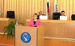 Т.Гигель приняла участие вработе сессии Государственного Собрания— Эл Курултай Республики Алтай