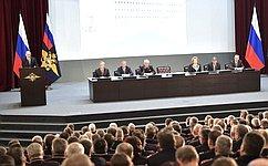 В.Матвиенко приняла участие взаседании расширенной коллегии Министерства внутренних дел Российской Федерации