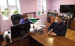 Д. Гусев побывал срабочей поездкой вдеревне Андег Заполярного района Ненецкого АО