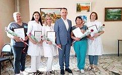О. Алексеев посетил Перинатальный центр вСаратове