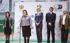 Л. Тюрина приветствовала участников юношеского турнира потеннису «Кубок Кремля»