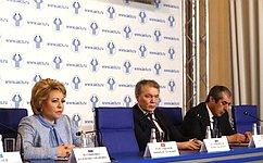 В. Матвиенко: МПА СНГ— серьезная площадка для межпарламентского диалога напространстве Содружества испартнерами вовсем мире