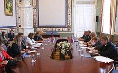 Состоялась встреча Председателя СФ В.Матвиенко сПредседателем Народной скупщины Республики Сербии М.Гойкович