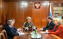 В. Матвиенко обсудила сруководителями Республики Марий Эл вопросы социально-экономического развития региона