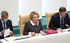 В. Матвиенко: Обсуждение ссенаторами кандидатур напост руководителей силовых ведомств– серьезный шаг кдемократизации государственно-политической системы