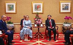 Председатель СФ провела встречу сзаместителем Председателя Постоянного комитета ВСНП КНР