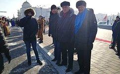 Б. Жамсуев иС. Жиряков приняли участие впраздновании Сагаалгана вЗабайкалье