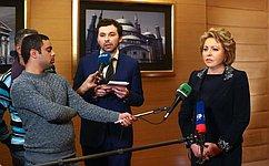 В.Матвиенко выразила надежду науспешное продвижение переговоров поСоглашению озоне свободной торговли между ЕАЭС иЕгиптом