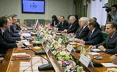 К. Косачев встретился сделегацией Конгресса США воглаве сД. Рорабахером