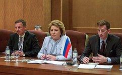Председатель СФ провела вАбу-Даби ряд двусторонних встреч сруководителями парламентов имежпарламентских объединений