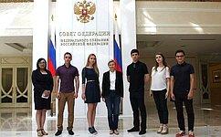 Выпускники саратовских школ побывали вСовете Федерации
