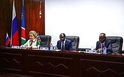 В.Матвиенко выступила сречью перед депутатами обеих палат Парламента Республики Намибия