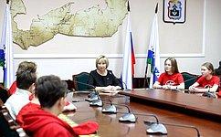 Р. Галушина: Необходимо оказывать содействие юнармейскому движению молодежи округа