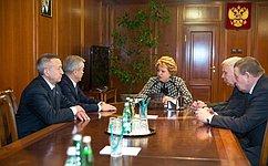 Председатель СФ В.Матвиенко игубернатор Е.Савченко обсудили перспективы социально-экономического развития Белгородской области