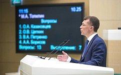 М.Топилин рассказал сенаторам орегиональных аспектах социальной политики Правительства России