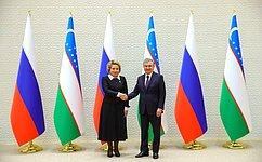 Состоялась встреча Председателя Совета Федерации В.Матвиенко сПрезидентом Республики Узбекистан Ш.Мирзиёевым