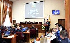 Н. Тихомиров отметил высокий уровень работы депутатов Череповецкой городской Думы
