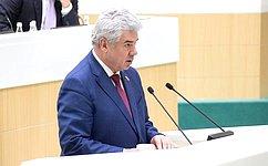 В. Бондарев представил информацию полномочного представителя Совета Федерации вСледственном комитете РФ оработе в2019году