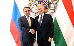 Совет Федерации уделяет особое внимание развитию межрегионального сотрудничества между Россией иВенгрией— Н.Фёдоров