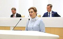 На«правительственном часе» врамках заседания СФ выступила руководитель Роспотребнадзора А.Попова