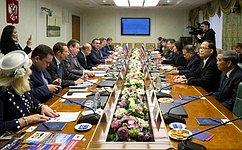 Н. Федоров провел встречу спервым заместителем Председателя Национальной законодательной ассамблеи Королевства Таиланд