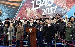 Военный парад вознаменование 72-й годовщины Великой Победы