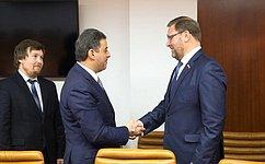 К. Косачев: Встречи спослами иностранных государств позволяют находить дополнительные пути для межпарламентского взаимодействия