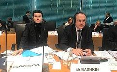 А. Башкин принял участие вработе комиссии поюридическим вопросам иправам человека Парламентской Ассоциации Совета Европы