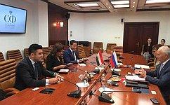 Парламентарии России иЕгипта обсудили вопросы организации контактов врамках деятельности групп посотрудничеству— Ф.Мухаметшин