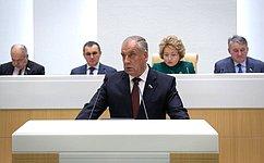 С. Митин представил отчет оработе Временной комиссии СФ повопросам АПК за2019год