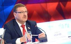 Большое количество участников Ассамблеи МПС вСанкт-Петербурге свидетельствует обинтересе кРоссии— К.Косачев