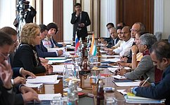 В.Матвиенко: ВСовете Федерации заинтересованы вразвитии межпарламентского взаимодействия сИндией